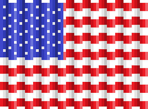 Pixilated Old Glory by Gerald Lynch