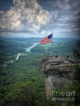 Old Glory on the Rock by Buddy Morrison