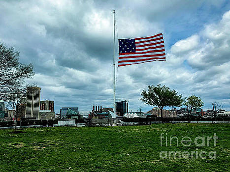 Old Glory over Baltimore by Jason Sullivan