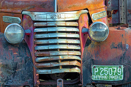 Old GMC Truck Grill by Jerry Fornarotto