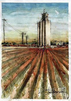 Old Goodpasture Elevator Study by Tim Oliver