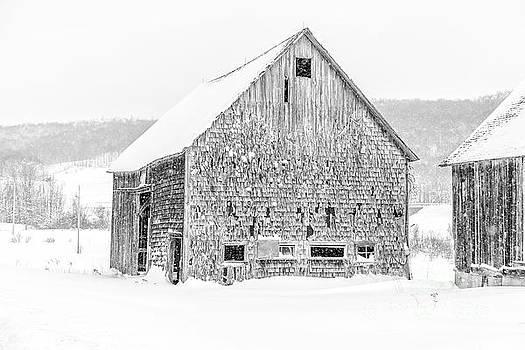 Old Grandham Barns Winter by Edward Fielding