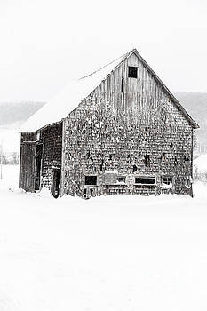 Old Gray Barn in a Snow Storm Grantham NH by Edward Fielding