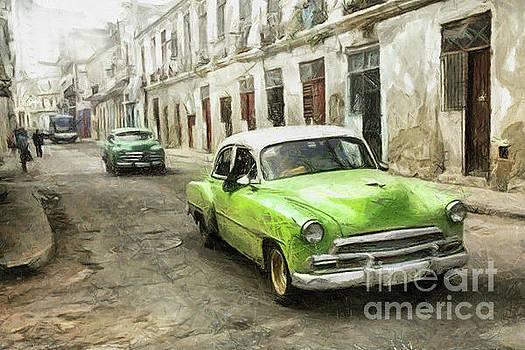 Old Green Car by Daliana Pacuraru