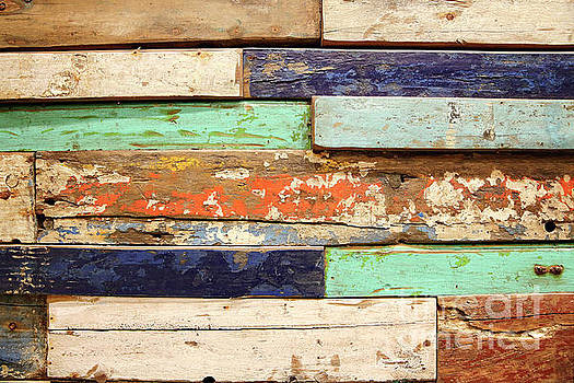 Old, grunge wood panels  by PhotoStock-Israel
