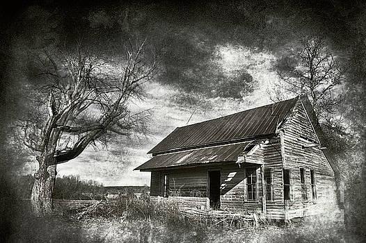 Dan Carmichael - Old House and Dramatic Sky BW