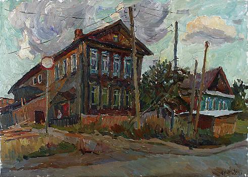 Old house at sunset by Juliya Zhukova