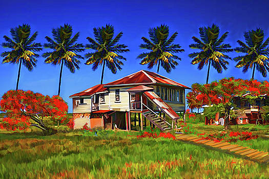 Old House Guyana 1d by James  Mingo