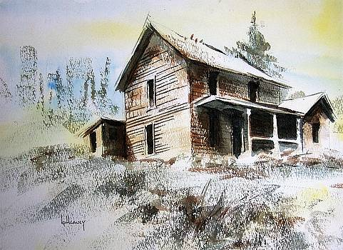 Old House Marysville GhostTown Montana by Kevin Heaney