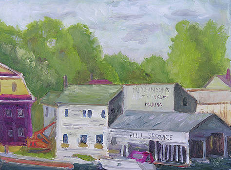 Old Hutchison Marina by Robert P Hedden