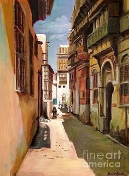 Old Jeddah street by Yvonne Ayoub