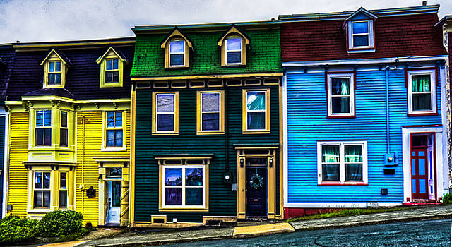 Old Jellybean Row Houses by Gord Follett