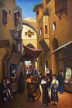 Old Jerusalem. Jewish Quarter.  by Eduard Gurevich
