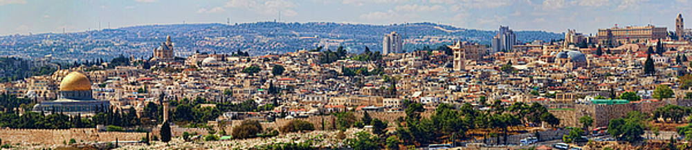 Old Jerusalem Panorama by David Smith