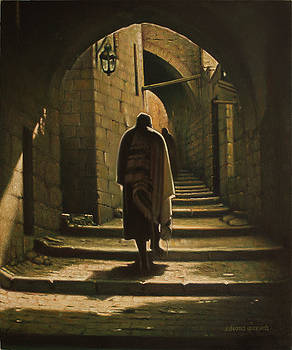 Old Jerusalem. Road to the Western Wall.  by Eduard Gurevich