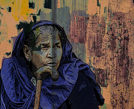 Bliss Of Art - Old lady of India