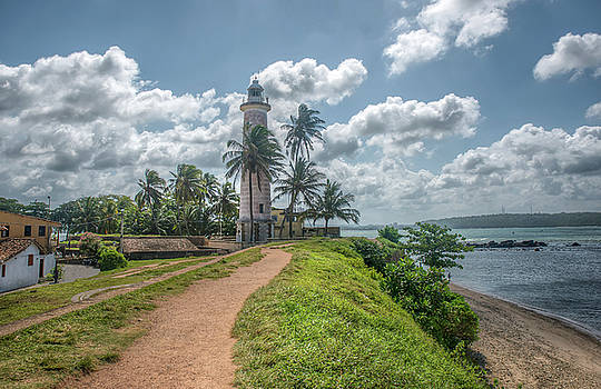 Old lighthouse in Galle,Ceylon by Julian Popov