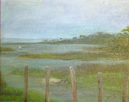 Old Lighthouse Point by Dixie Hester