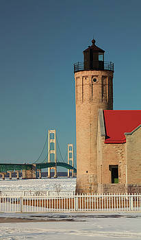 Old Mackinac Point Lighthouse by Debby Richards