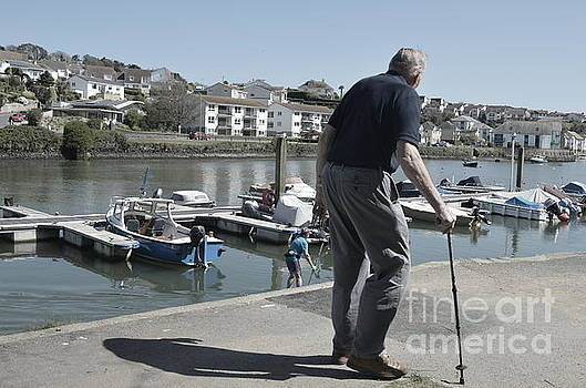 Old Man and Boats by Andy Thompson