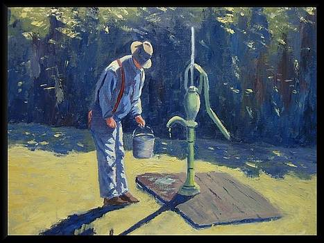 Old Man At The Pump by Darrell Flint