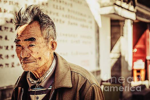 Old man in Dali by Adrian Baljeu