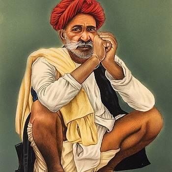 Old man by Mahesh sharma