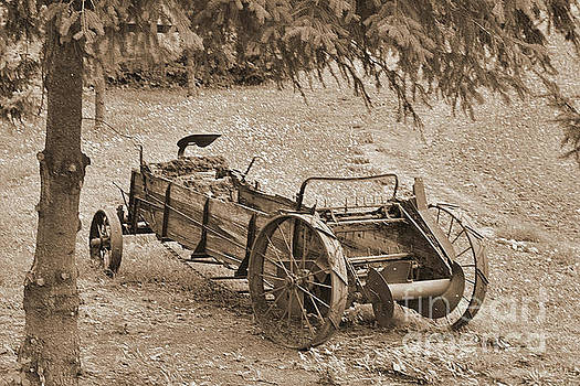 Old Manure Spreader in Sepia by Ansel Price