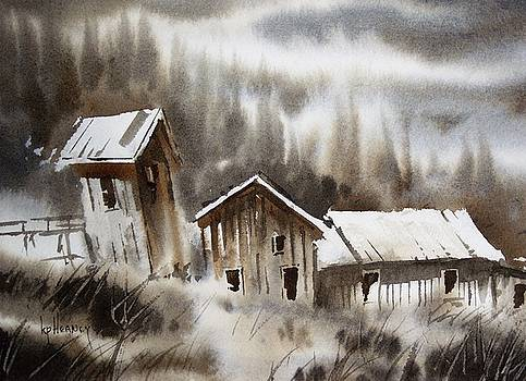 Old Mill Hidden Lake Ghost Town Montana by Kevin Heaney