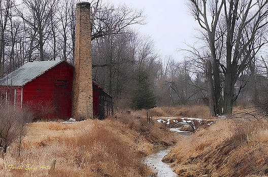 Old Mill in St. Johns Michigan by Dick Bourgault