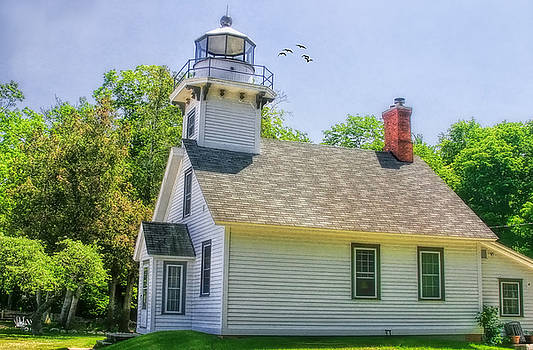 Old Mission Lighthouse by Joan Bertucci