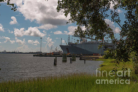 Old Navy Base on the Cooper River in Charleston by Dale Powell