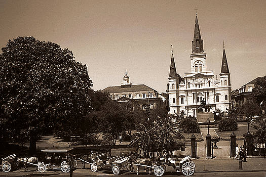 Peter Potter - Old New Orleans Photo - Saint Louis Cathedral