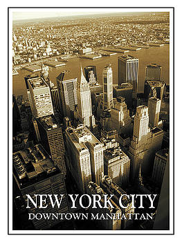 Peter Potter - Old New York City Downtown Manhattan Poster