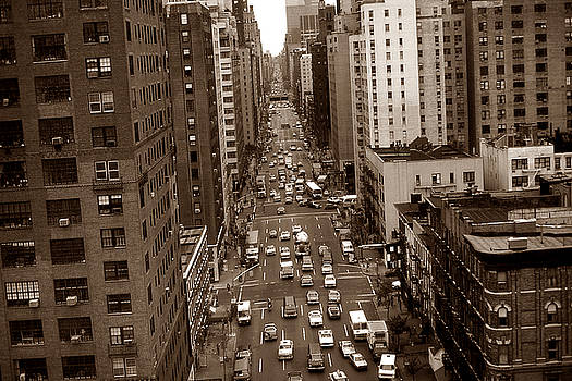 Peter Potter - Old New York Photo - 10th Avenue Traffic
