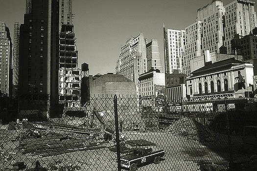 Peter Potter - Old New York Photo - Manhattan Construction Site