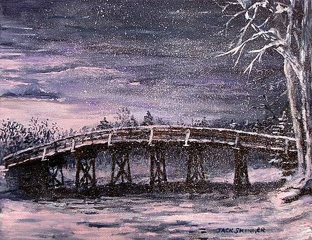 Old North Bridge in Winter by Jack Skinner