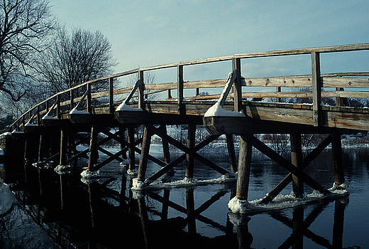 John Clark - Old North Bridge in Winter