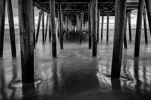 Old Orchard Beach Pier in Black and White by Rick Berk