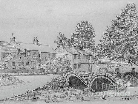 Old Packhorse Bridge Wycoller by Anthony Lyon