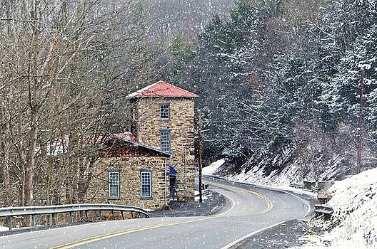 Old Paint Mill Winter Time by Stephanie Calhoun