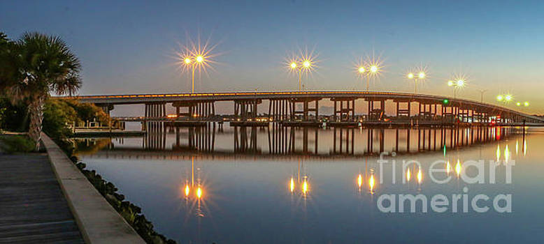 Tom Claud - Old palm City Bridge at Dawn