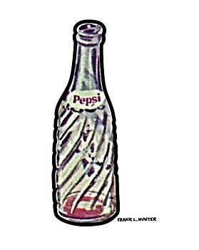 Old Pepsi Bottle by Frank Hunter