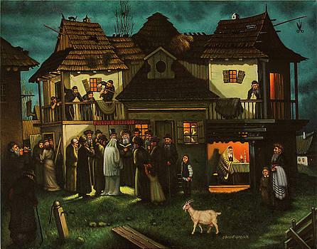 Old Poland. Wedding in Shtetl. by Eduard Gurevich