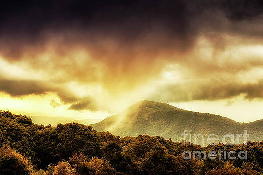 Old Rag View Overlook Storm Clouds by Thomas R Fletcher