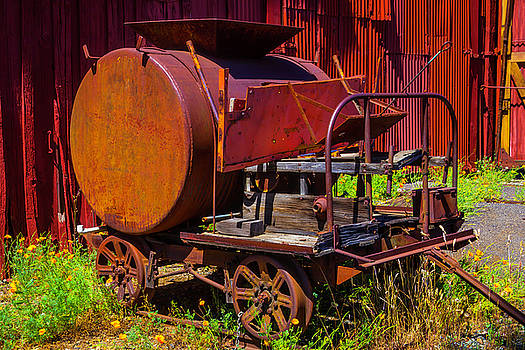 Old Railroad Equipment by Garry Gay