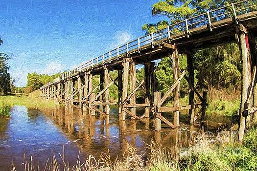 Old railway bridge, Curdies River, Victoria, Australia by Howard Ferrier