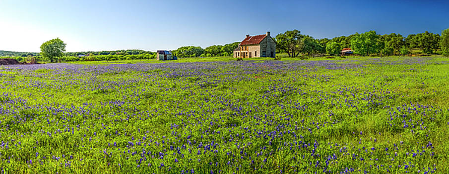 Old Ranch on US 281 Marble Falls Panorama 2017 by Greg Reed