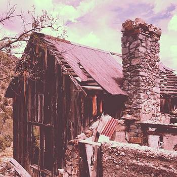 Old Ranch Ruins Near Our Camping Site by Paula Manning-Lewis