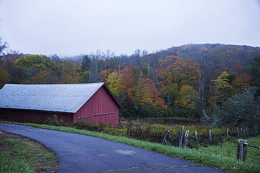 Old Red Barn by Cassandra NightThunder